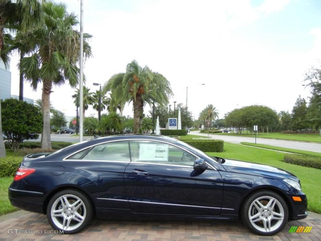2013 lunar blue metallic mercedes benz e 350 coupe for Blue mercedes benz