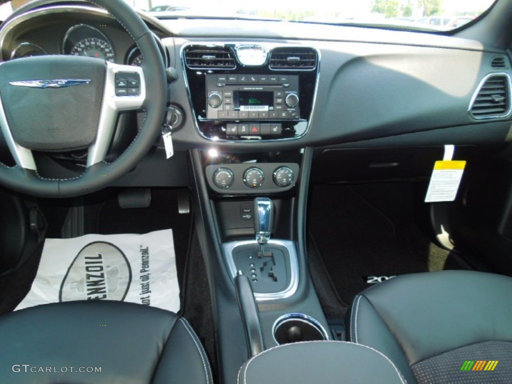 2013 chrysler 200 s sedan black dashboard photo 69345621. Black Bedroom Furniture Sets. Home Design Ideas