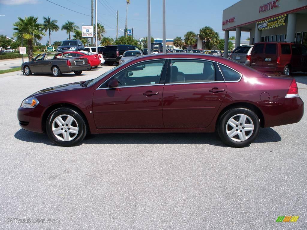 2007 Bordeaux Red Chevrolet Impala Ls 545835 Gtcarlot Com Car Color Galleries