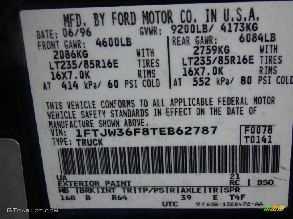 ford  xlt crew cab  color code  gtcarlotcom