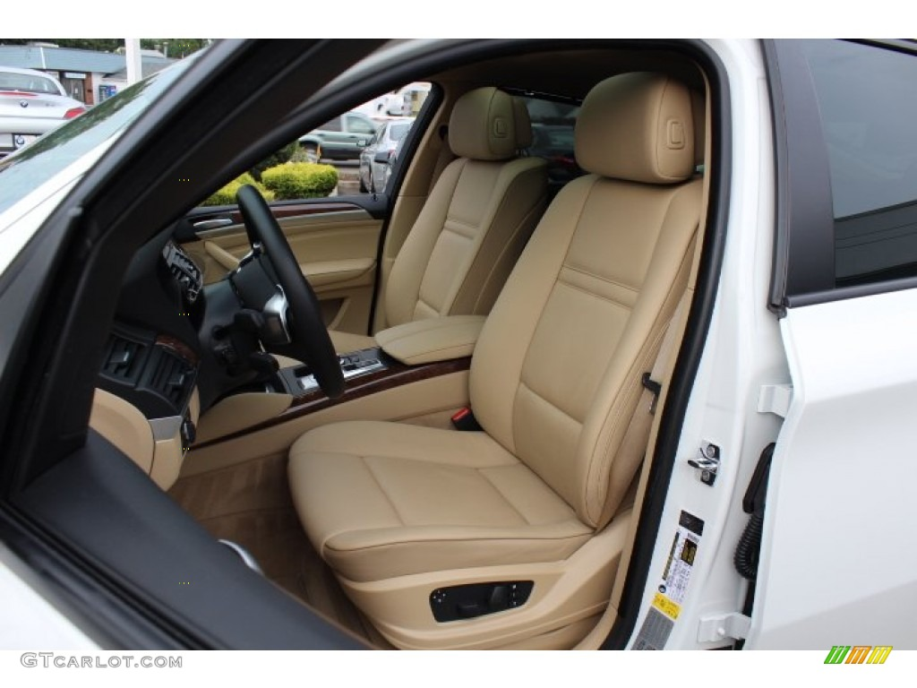 Sand Beige Nevada Leather Interior 2009 Bmw X6 Xdrive35i