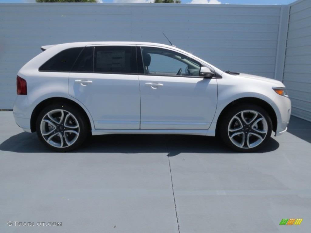 White platinum tri coat 2013 ford edge sport exterior photo 69370156