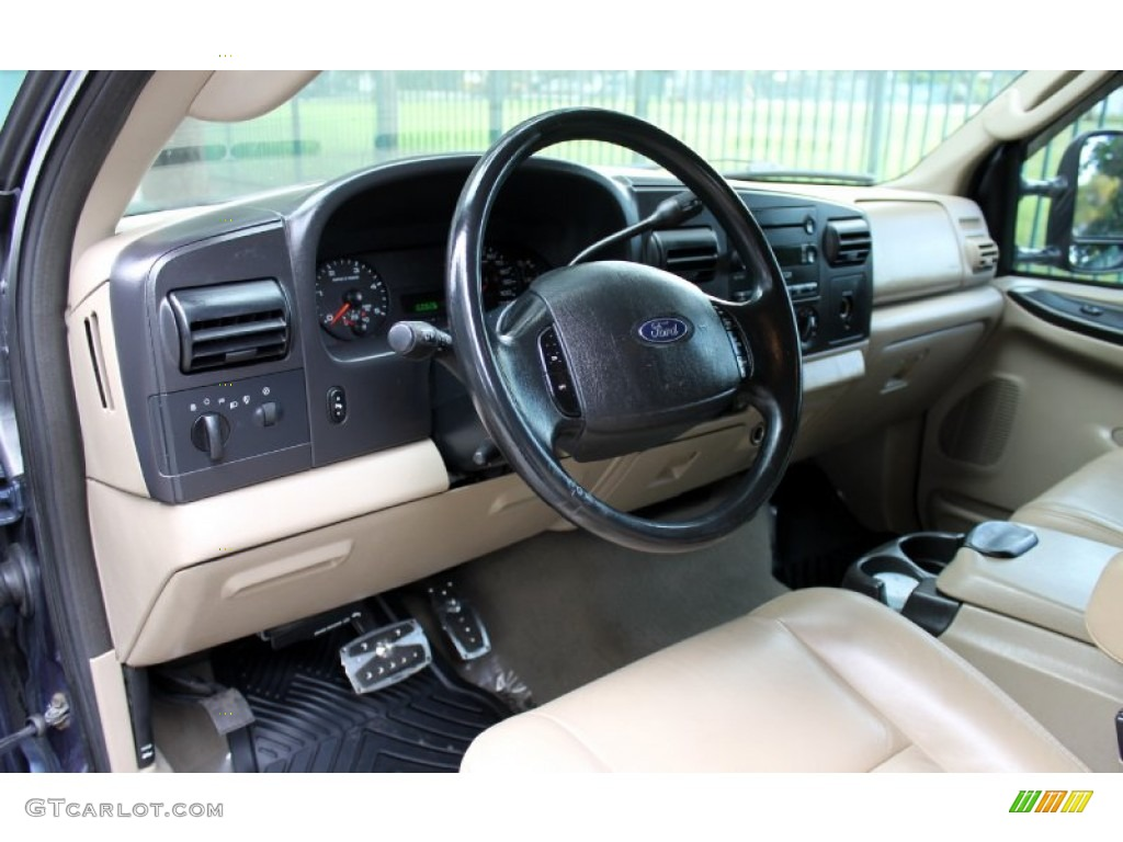 Tan Interior 2005 Ford F250 Super Duty Lariat Crew Cab 4x4 Photo ...