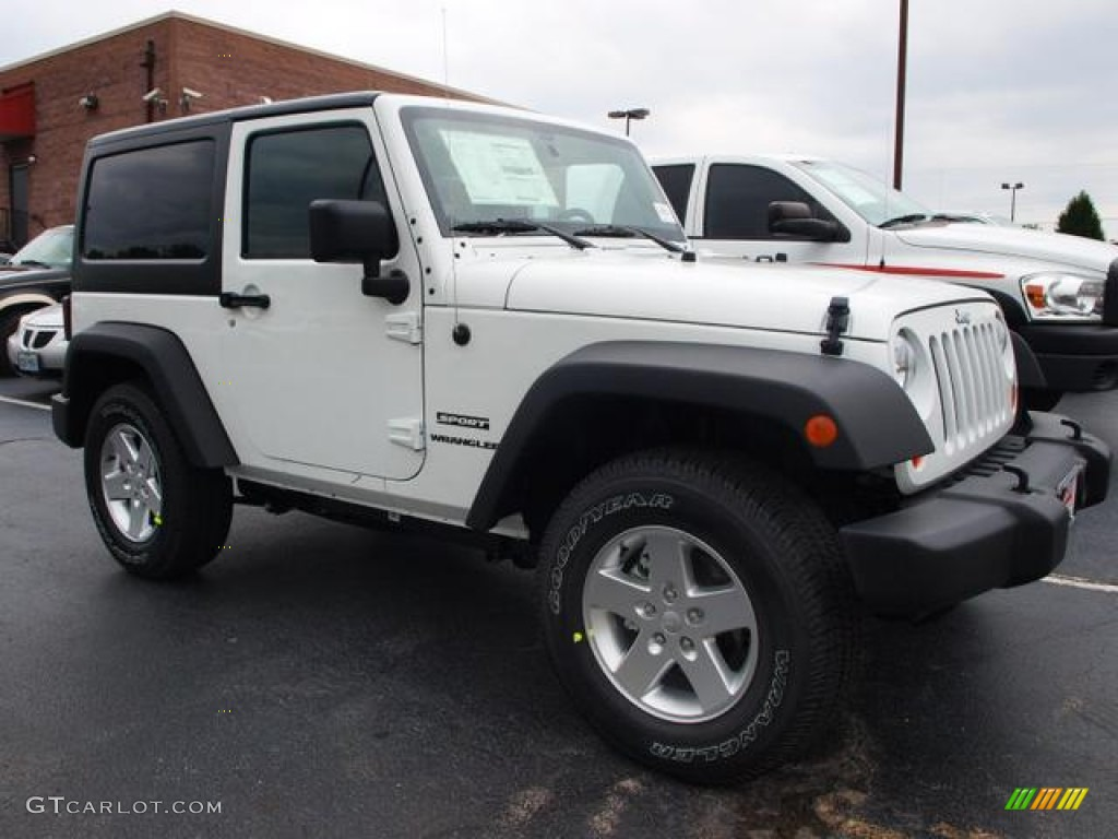 bright white 2013 jeep wrangler sport s 4x4 exterior photo 69376030. Black Bedroom Furniture Sets. Home Design Ideas