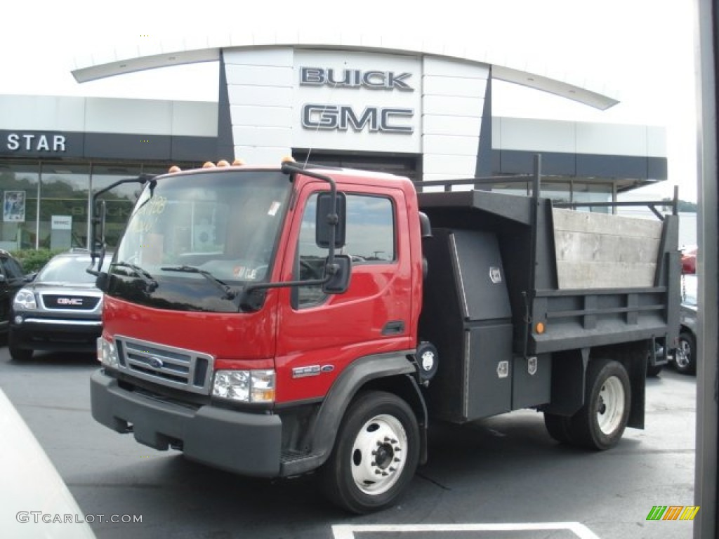 Bright red ford lcf truck