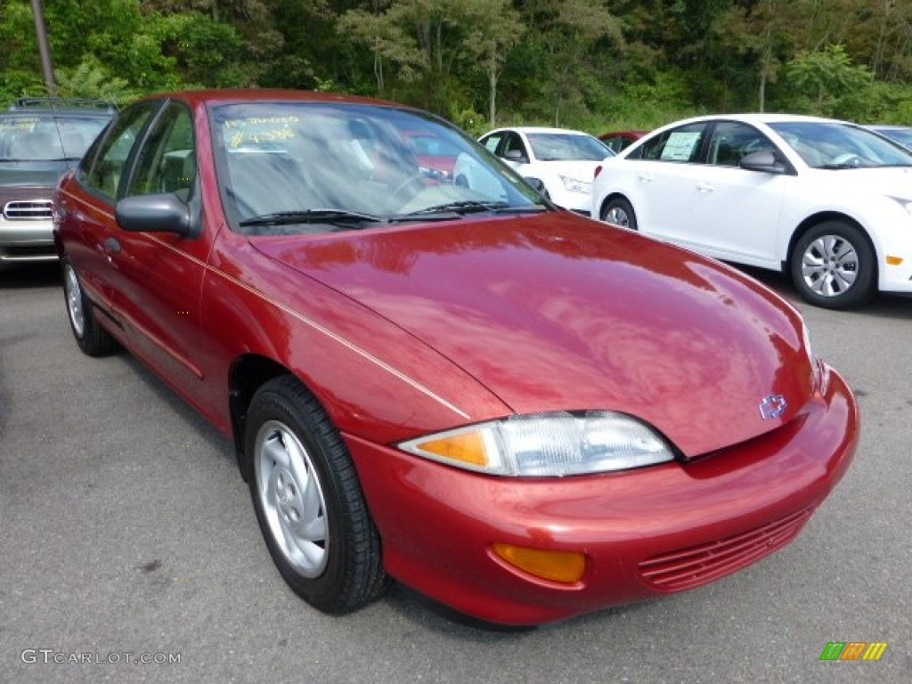1999 Cavalier Sedan - Cayenne Red Metallic / Neutral photo #1