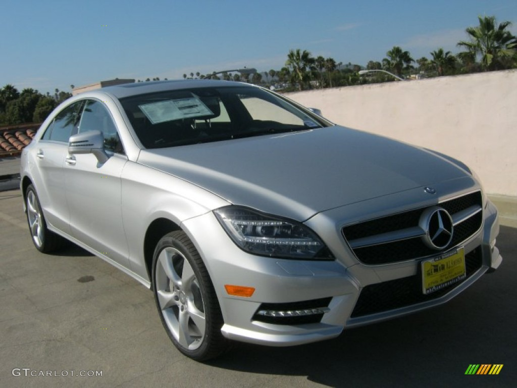 2013 iridium silver metallic mercedes benz cls 550 coupe for Mercedes benz silver
