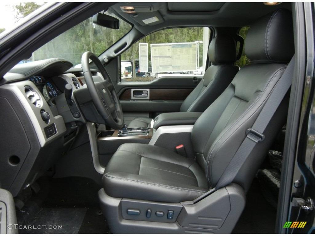 Black Interior 2012 Ford F150 Lariat Supercrew 4x4 Photo 69400924