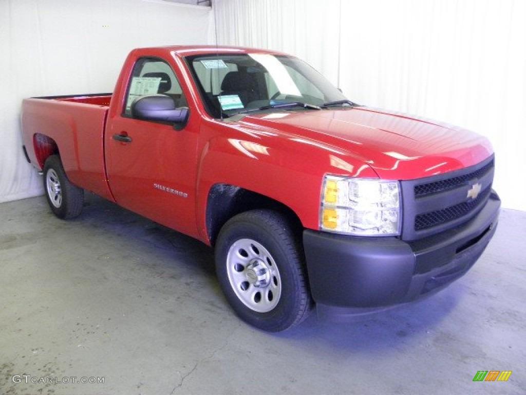 2012 Silverado 1500 Work Truck Regular Cab - Victory Red / Light Titanium/Dark Titanium photo #1