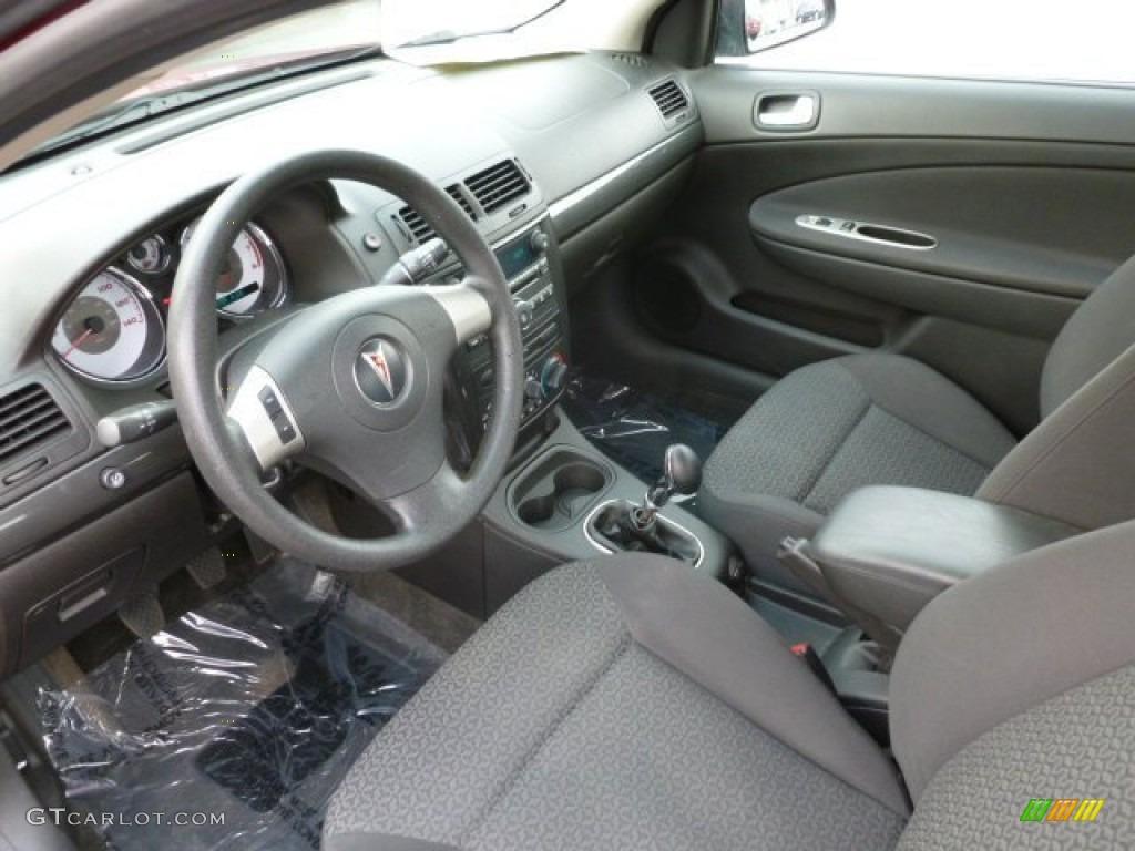 Ebony Interior 2007 Pontiac G5 Standard G5 Model Photo