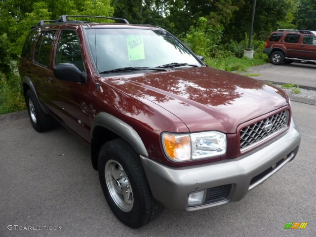Burnt Cherry Red Pearl Nissan Pathfinder. Nissan Pathfinder LE 4x4