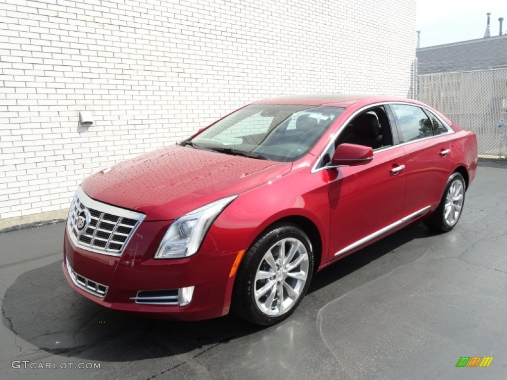 Crystal Red Tintcoat 2013 Cadillac Xts Luxury Fwd Exterior Photo 69411679