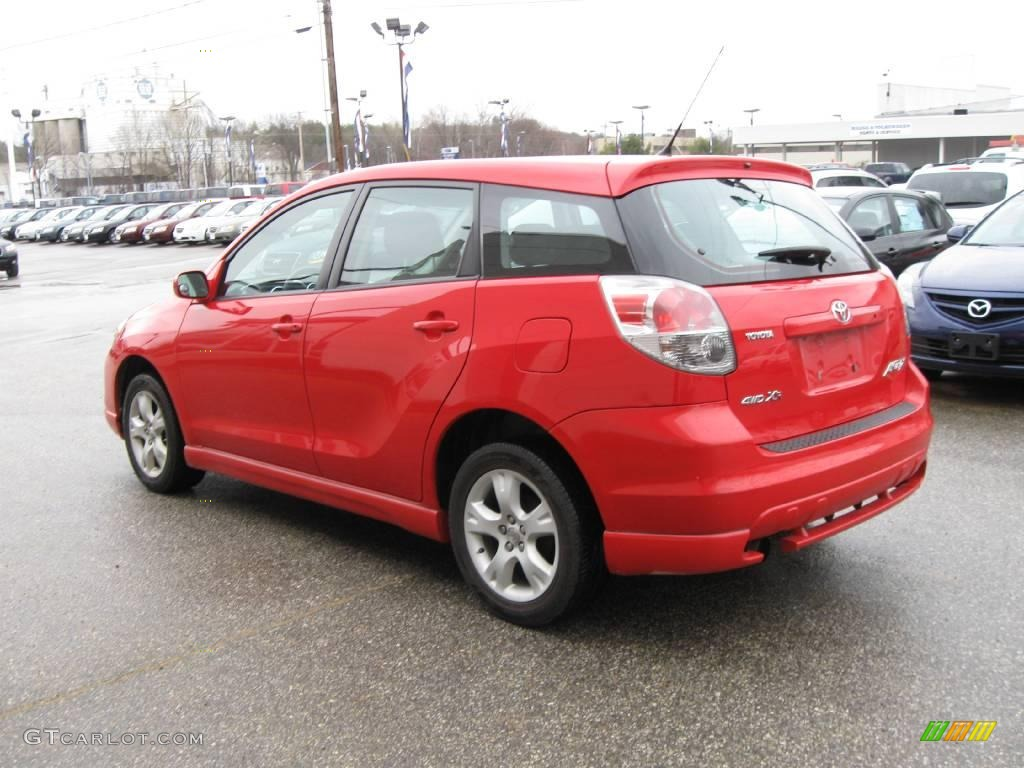 2005 Radiant Red Toyota Matrix Xr Awd 6911807 Photo 9