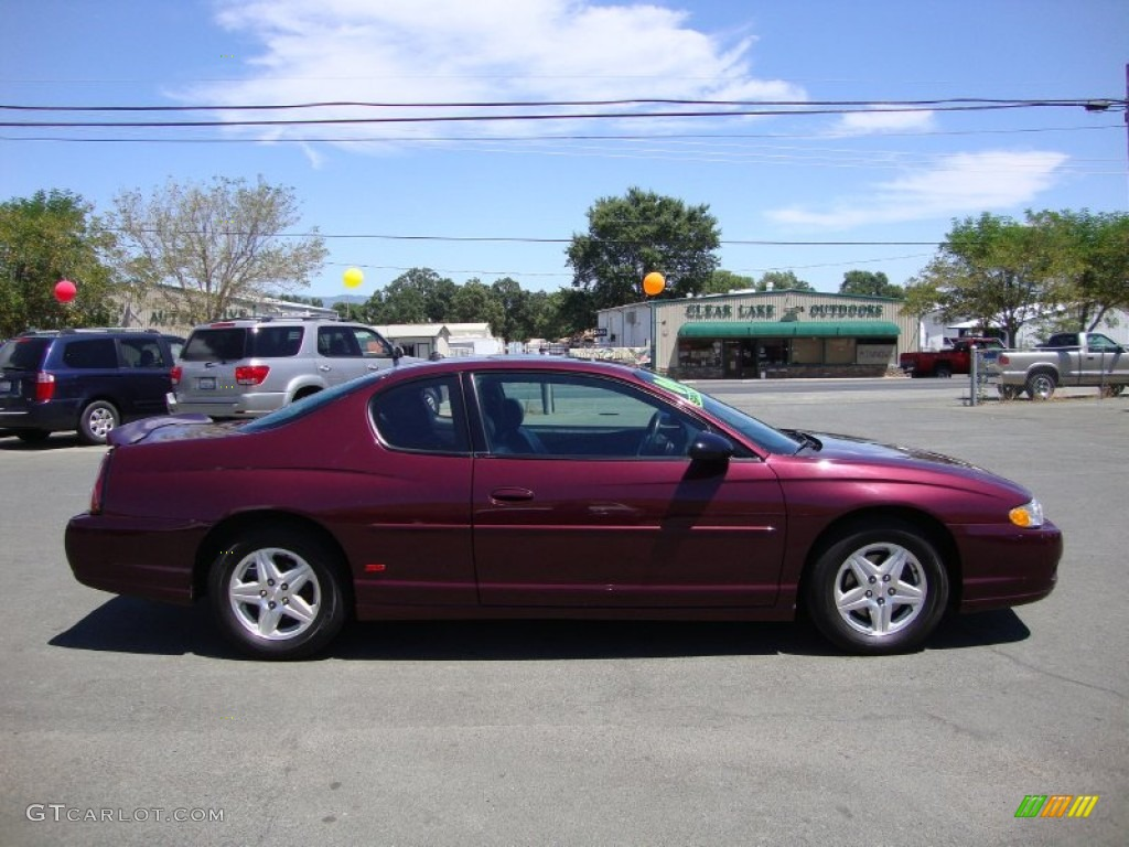 berry red metallic 2004 chevrolet monte carlo ss exterior. Black Bedroom Furniture Sets. Home Design Ideas