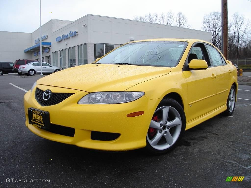 2003 speed yellow mazda mazda6 s sedan 6902184 car color galleries. Black Bedroom Furniture Sets. Home Design Ideas