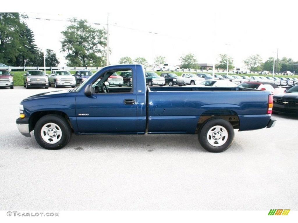 indigo blue metallic 2001 chevrolet silverado 1500 ls. Black Bedroom Furniture Sets. Home Design Ideas