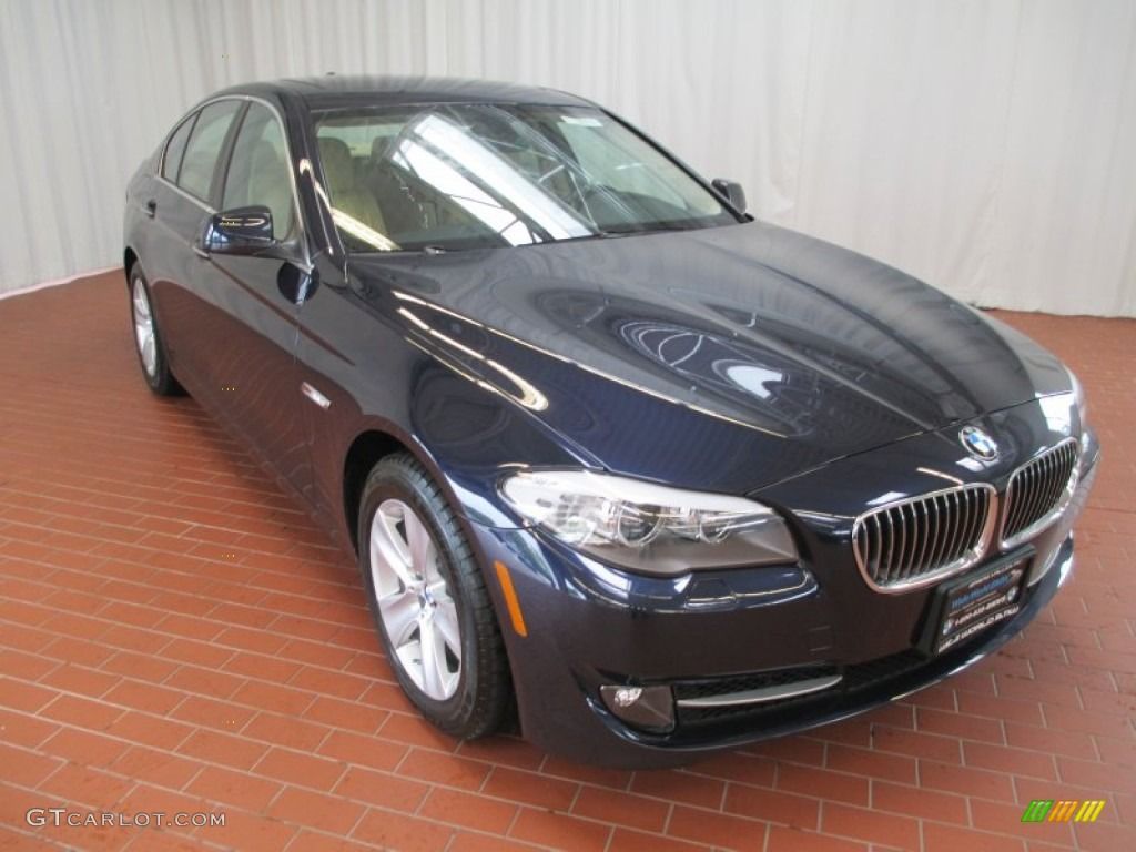 2013 5 Series 528i xDrive Sedan - Imperial Blue Metallic / Venetian Beige photo #1