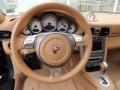 2007 Porsche 911 Sand Beige Interior Steering Wheel Photo