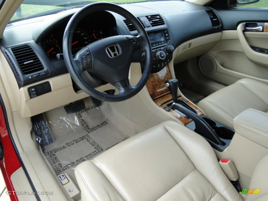 Ivory interior 2003 honda accord ex l coupe photo 69440107