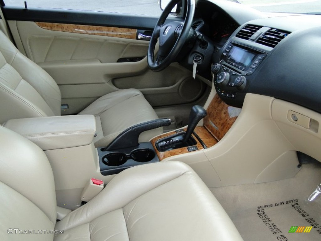 Ivory Interior 2003 Honda Accord Ex L Coupe Photo