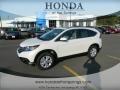 2012 White Diamond Pearl Honda CR-V EX-L  photo #1