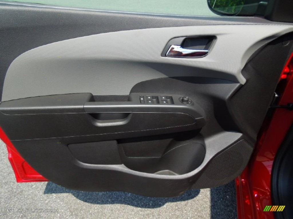 2012 Chevrolet Sonic Ltz Sedan Jet Black Dark Titanium Door Panel Photo 69446674
