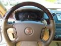 2006 Cadillac DTS Very Dark Cashmere/Cashmere Interior Steering Wheel Photo