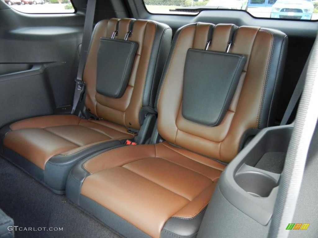 Pecan Charcoal Black Interior 2013 Ford Explorer Limited