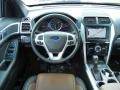 Pecan/Charcoal Black Dashboard Photo for 2013 Ford Explorer #69472021