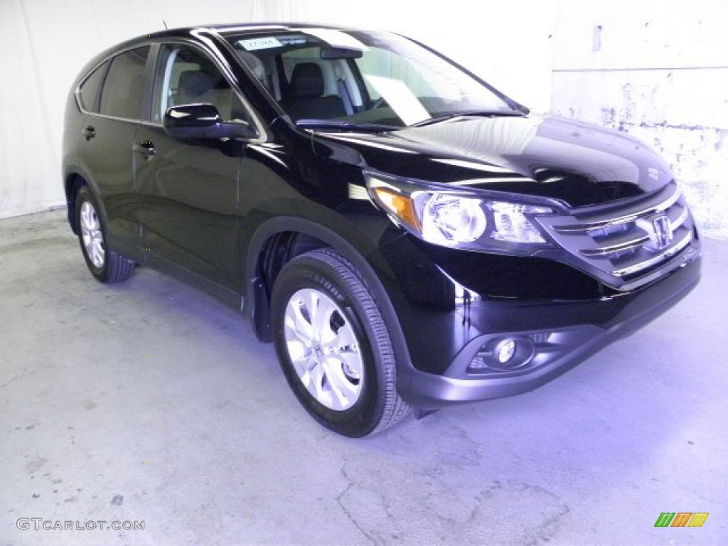 2012 CR-V EX 4WD - Crystal Black Pearl / Black photo #1