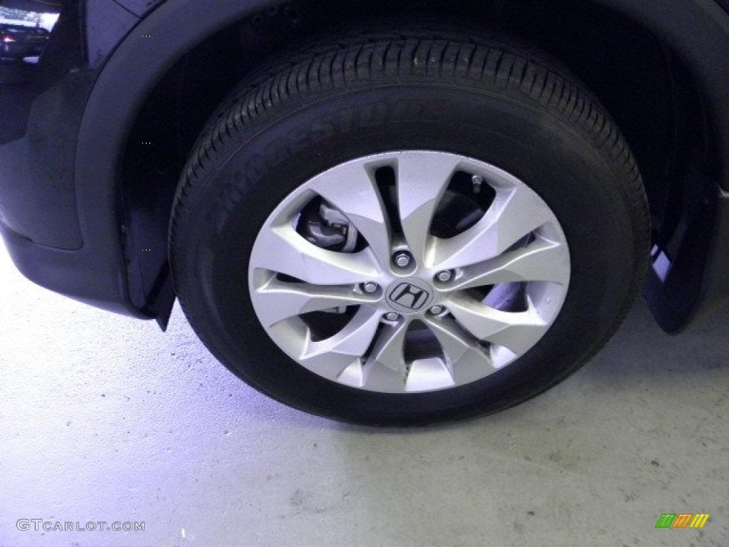 2012 CR-V EX 4WD - Crystal Black Pearl / Black photo #4