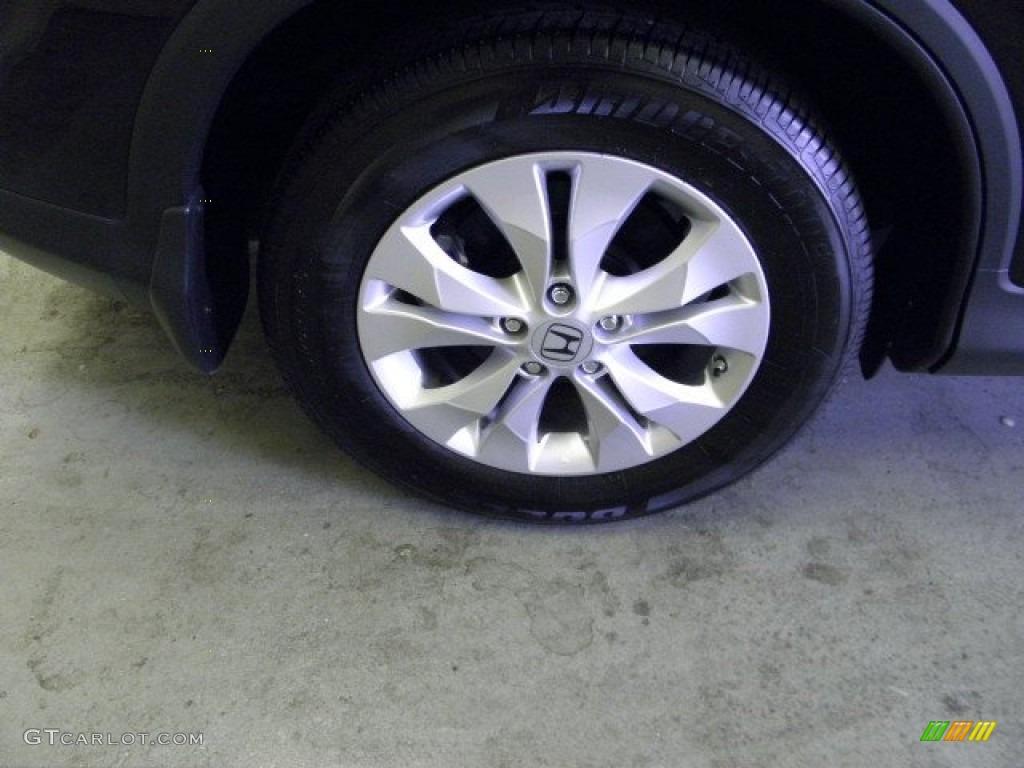 2012 CR-V EX 4WD - Crystal Black Pearl / Black photo #7