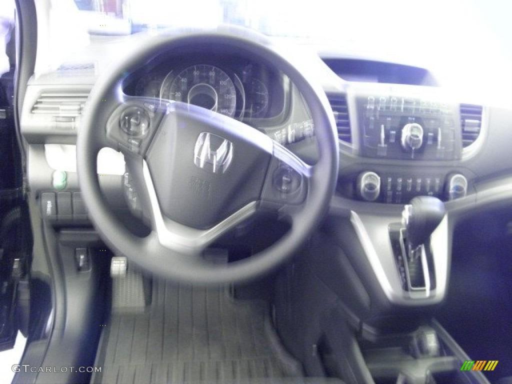 2012 CR-V EX 4WD - Crystal Black Pearl / Black photo #12