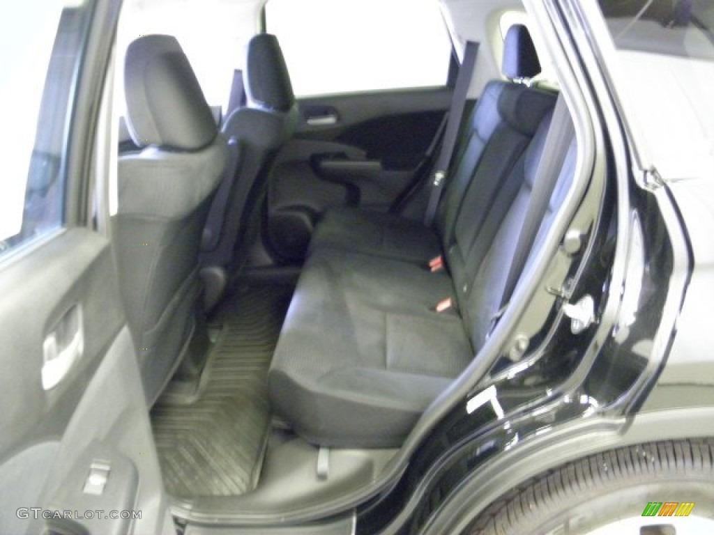 2012 CR-V EX 4WD - Crystal Black Pearl / Black photo #17