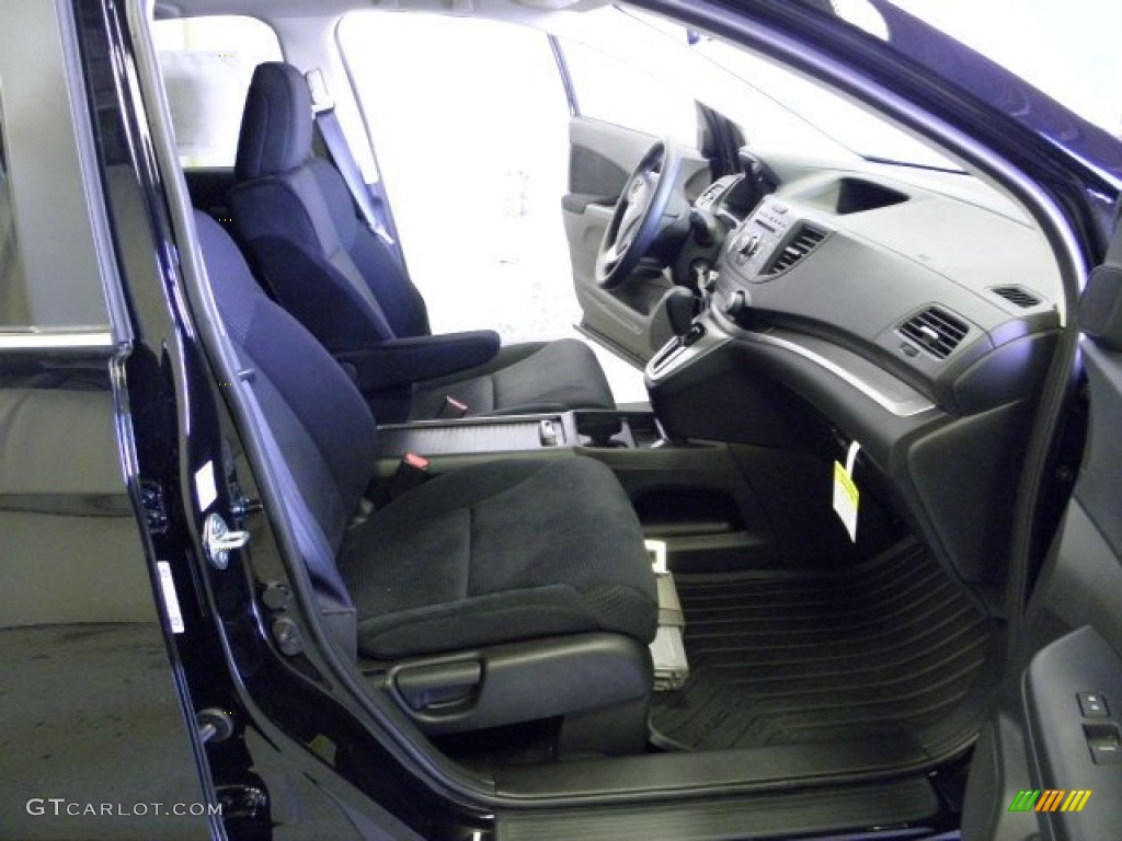 2012 CR-V EX 4WD - Crystal Black Pearl / Black photo #24