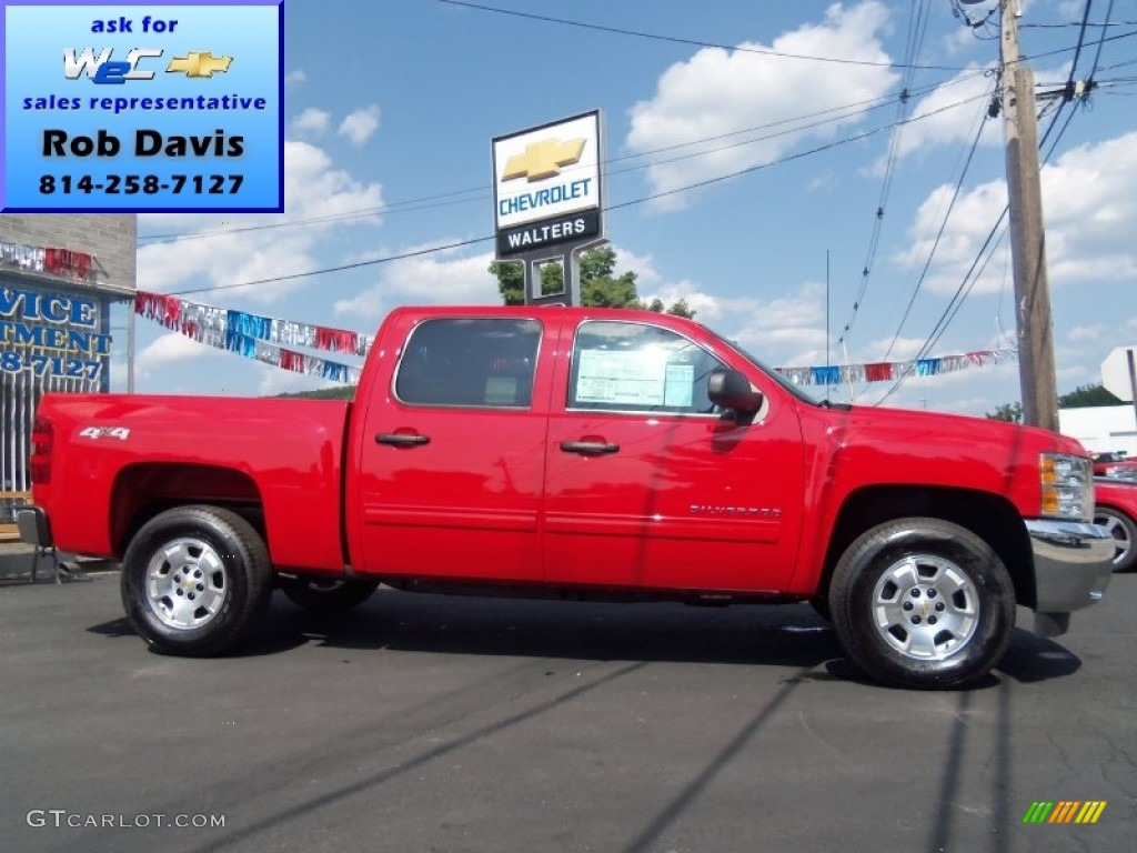 2012 Silverado 1500 LT Crew Cab 4x4 - Victory Red / Ebony photo #1