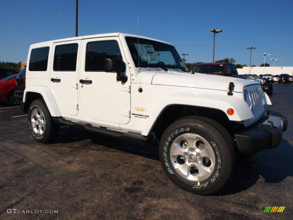 bright white 2013 jeep wrangler unlimited sahara 4x4 exterior photo 69489787. Black Bedroom Furniture Sets. Home Design Ideas