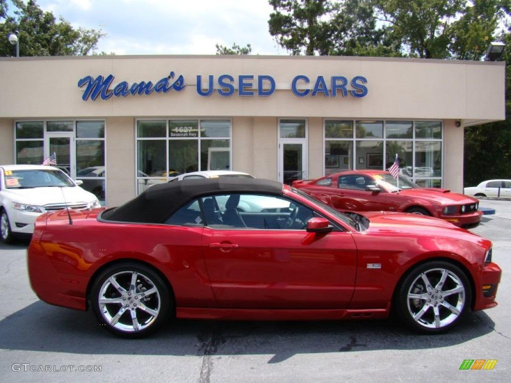 2011 Mustang Saleen S302 Mustang Week Special Edition Convertible - Red Candy Metallic / Saleen Mustang Week Special Edition Charcoal Black photo #1