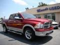 2011 Deep Cherry Red Crystal Pearl Dodge Ram 1500 Laramie Crew Cab 4x4  photo #2
