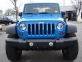 2011 Cosmos Blue Jeep Wrangler Sport S 4x4  photo #9
