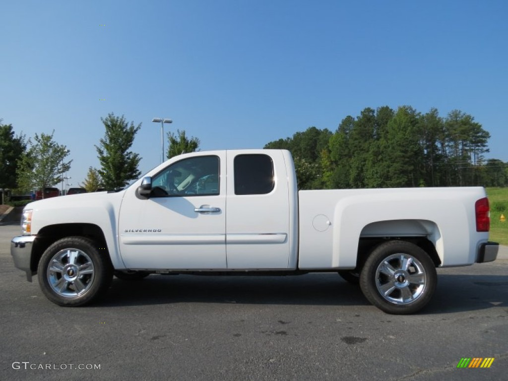 Summit White 2013 Chevrolet Silverado 1500 Lt Extended Cab