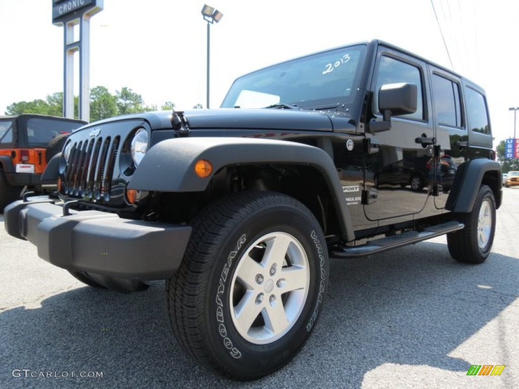 black 2013 jeep wrangler unlimited sport s 4x4 exterior photo. Cars Review. Best American Auto & Cars Review