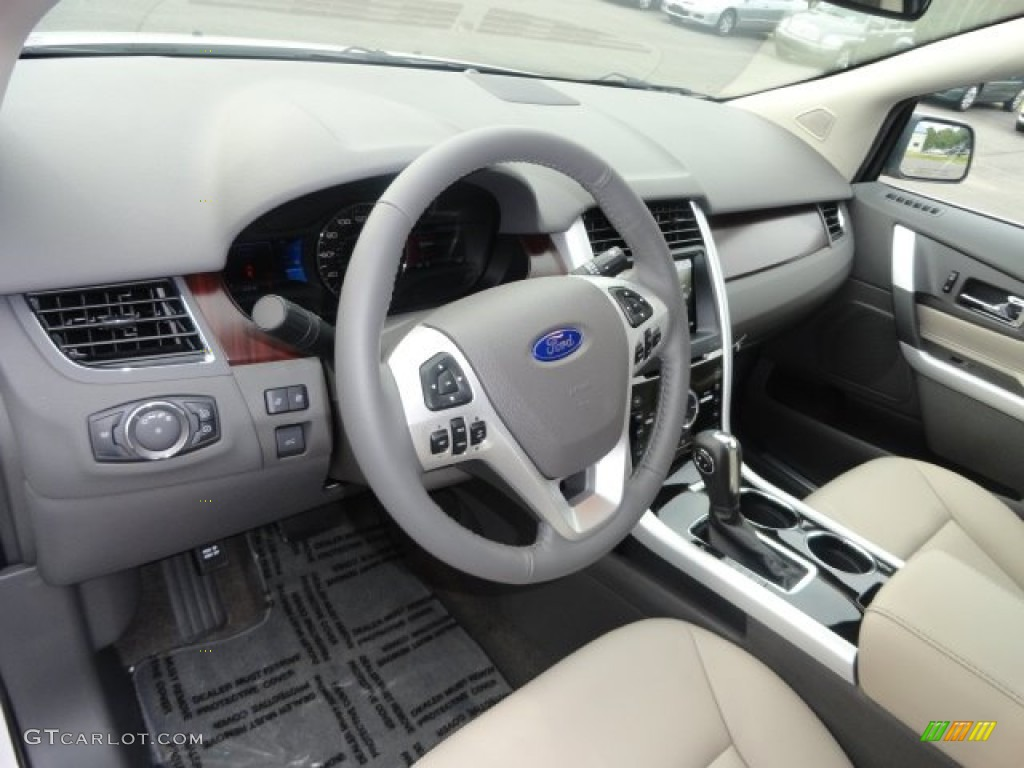 Delightful Medium Light Stone Interior 2013 Ford Edge Limited AWD Photo #69516226
