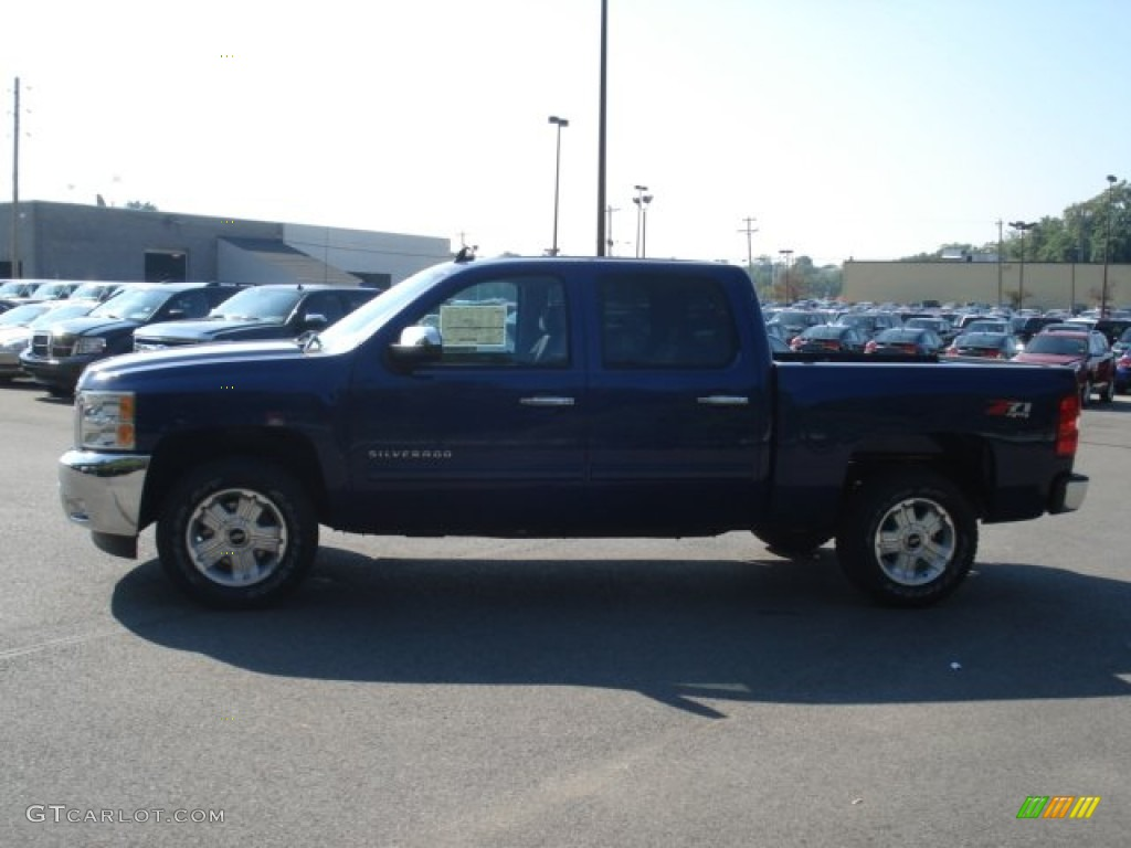 2012 Silverado 1500 LT Crew Cab 4x4 - Blue Topaz Metallic / Ebony photo #5