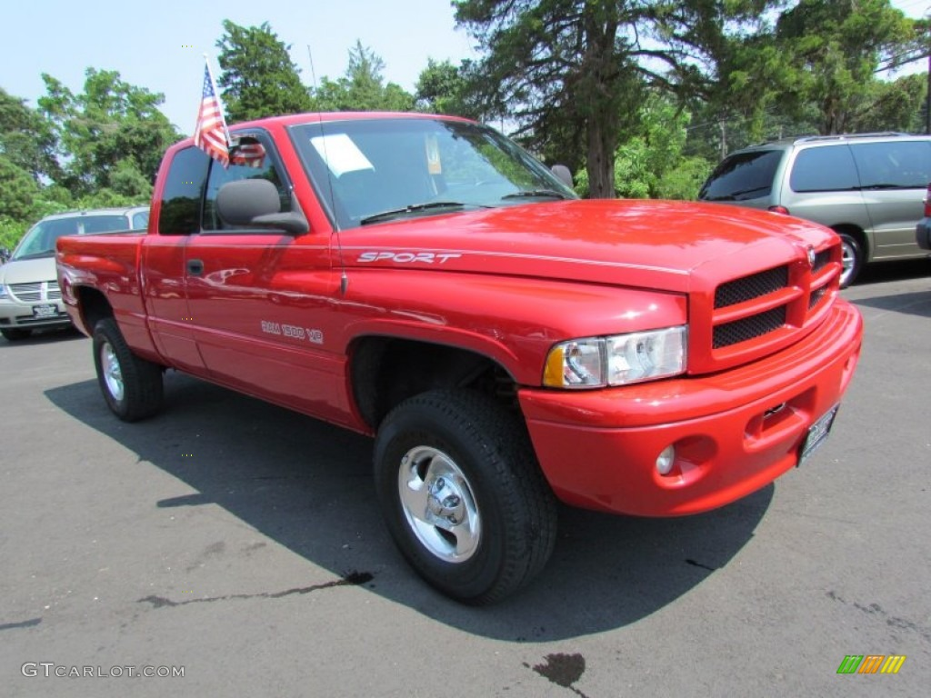 flame red 1999 dodge ram 1500 sport extended cab 4x4 exterior photo 69528877. Black Bedroom Furniture Sets. Home Design Ideas