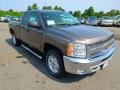 2013 Mocha Steel Metallic Chevrolet Silverado 1500 LT Extended Cab 4x4  photo #2