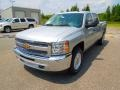 2013 Silver Ice Metallic Chevrolet Silverado 1500 LT Crew Cab  photo #1