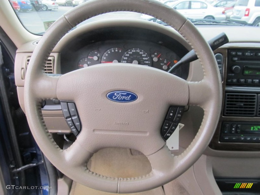 2005 Ford Explorer Ed Bauer 4x4 Medium Parchment Steering Wheel Photo 69535386