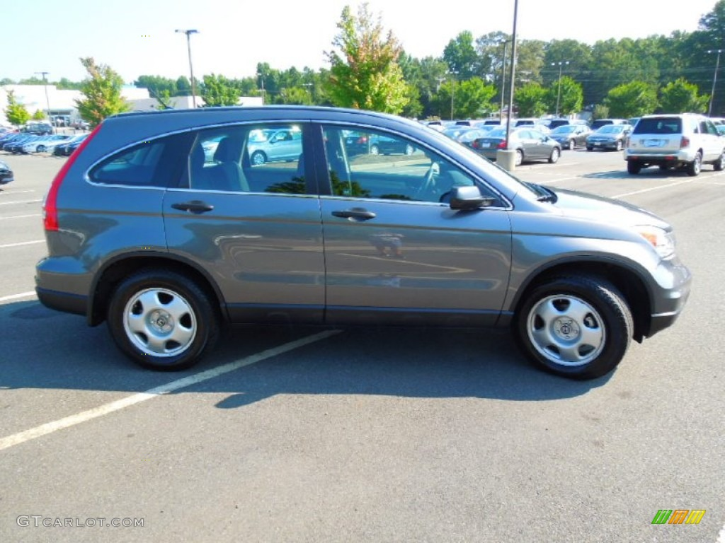 2010 CR-V LX AWD - Polished Metal Metallic / Black photo #3