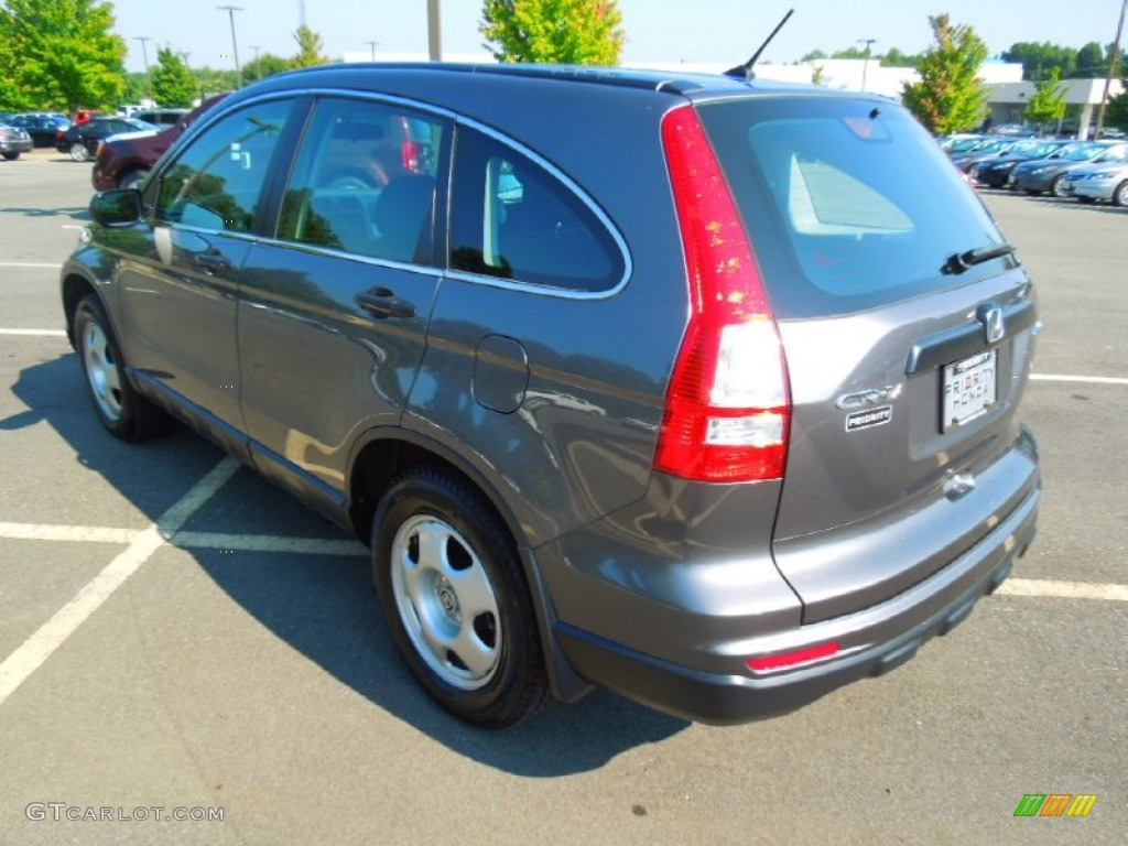2010 CR-V LX AWD - Polished Metal Metallic / Black photo #5